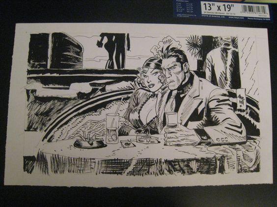 Jordi Bernet. Torpedo illustration Comic Art