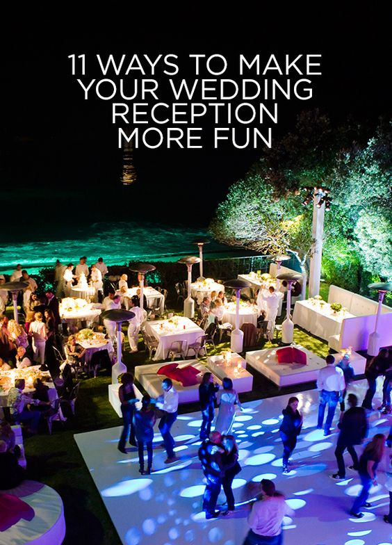 11 ways to make your wedding reception more fun jewe blog for Fun things for wedding receptions