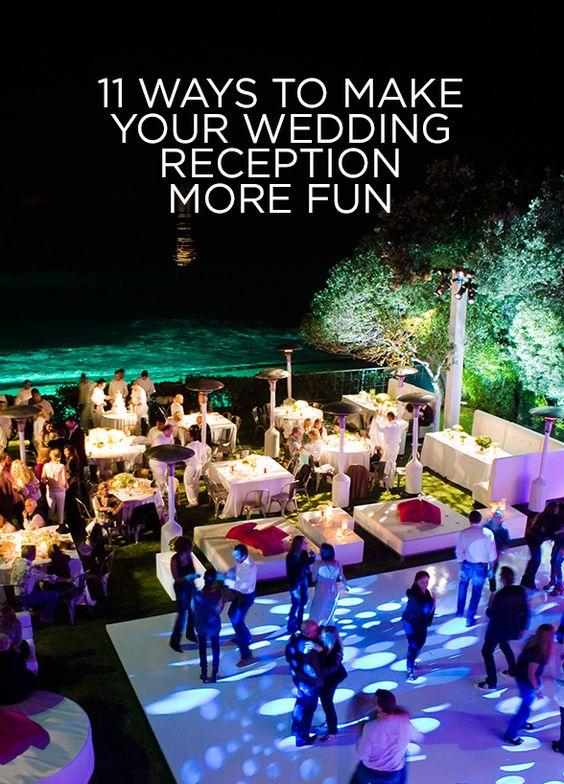 11 ways to make your wedding reception more fun jewe blog for Fun things for wedding receptions