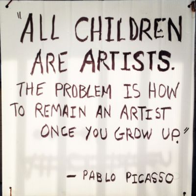 Bilderesultat for all children are born an artist