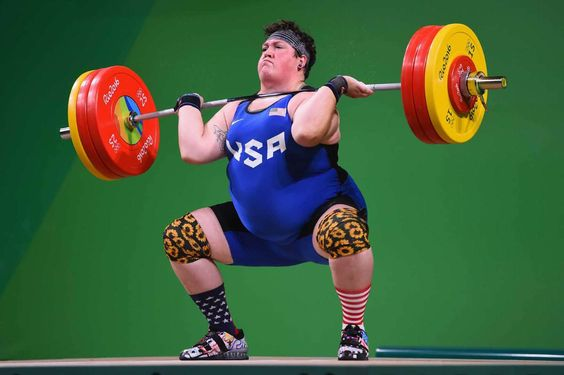 Sarah Robles wins bronze in weightlifting:  August 14, 2016  -   RIO DE JANEIRO, BRAZIL - AUGUST 14: Sarah Elizabeth Robles of the United States competes during the Weightlifting - Women's +75kg Group A on Day 9 of the Rio 2016 Olympic Games at Riocentro - Pavilion 2 on August 14, 2016 in Rio de Janeiro, Brazil.