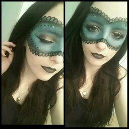 Fantasy Make Up Look Masquerade Mask Fantasy Blue Black Silver Mua Hairdresser Fantasy Make Up Makeup