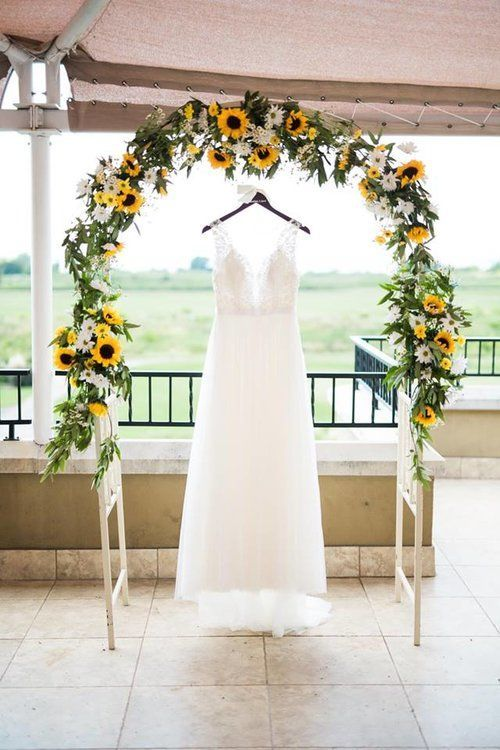 Arch Decor Sunflower Greenery The Tribute Golf Course The