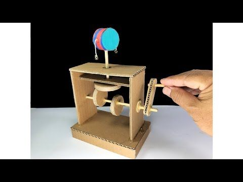 Wow Amazing Diy Carboard Monkey Drum Automata Toy Youtube In 2020 Simple Machines Automata Cool Paper Crafts