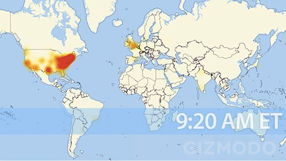 Today a massive DDoS attack took out a major piece of internet infrastructure, causing huge outages across the United States and Europe. Watch it spread like a disease across the States.