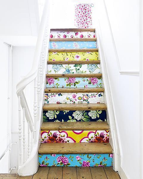 impressão no vinil + cor na escada: