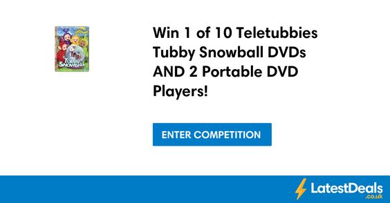 Win 1 of 10 Teletubbies Tubby Snowball DVDs AND 2 Portable DVD Players! at Ukmums