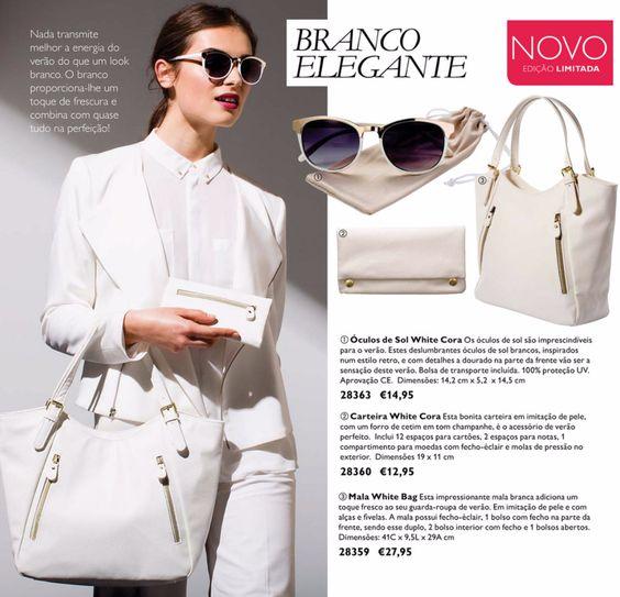 CATÁLOGO 8 2015  //  #mala #bag #white #sonhar #oriflame #acessorios #fashion