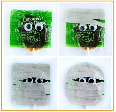Mummy lollipops