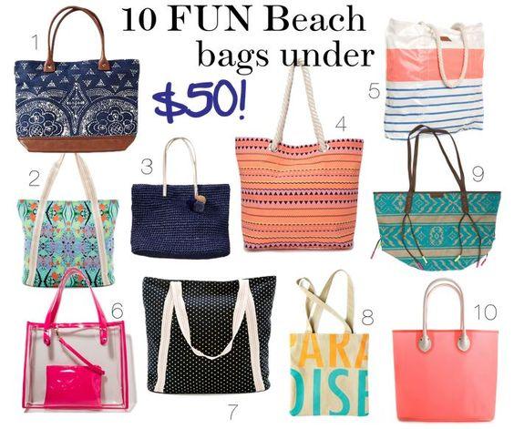 10 Fun Beach Bags Under $50!