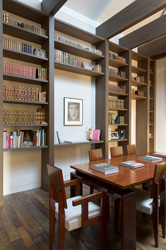 Dining rooms and libraries really should be interchangeable.: