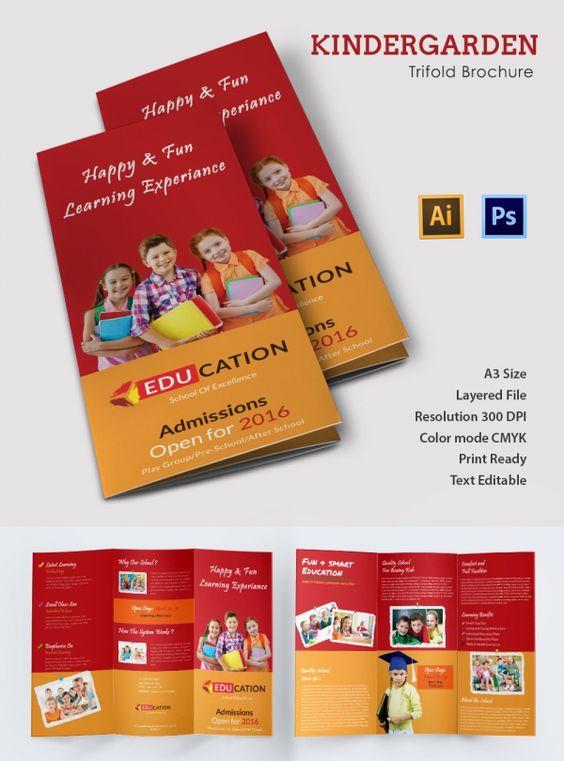 Kindergarten Brochure Templates  Free Psd Eps Ai Indesign