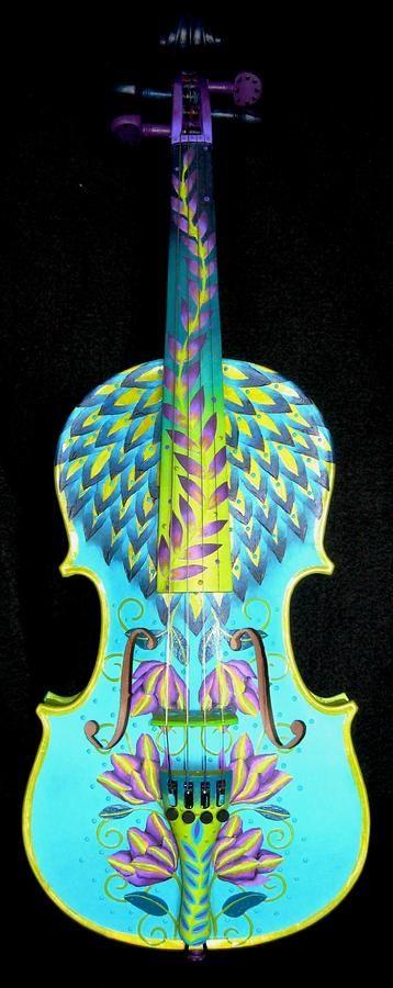 Painted Violin Painting - Painted Violin Fine Art Print ...