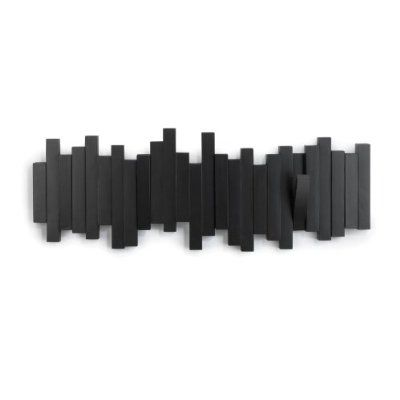 Umbra Sticks 5-Hook Wall Hook, Black