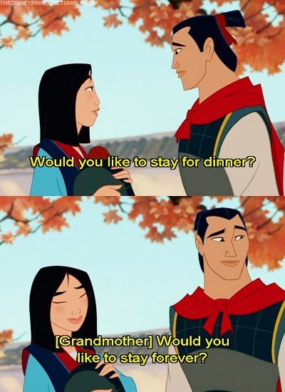 I love how Mulan pulls that face when you blush