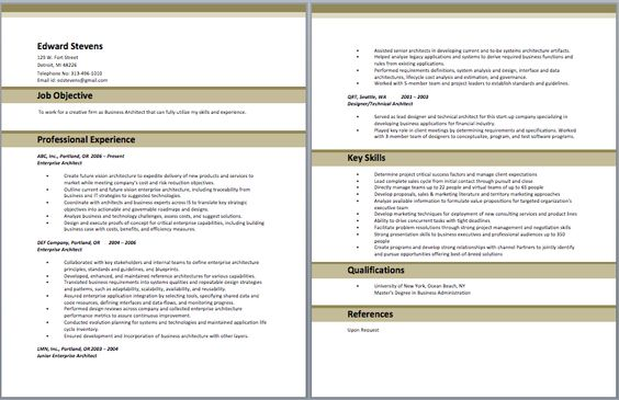 Business Architect Resume Architect Resume Samples Pinterest - enterprise architect resume sample