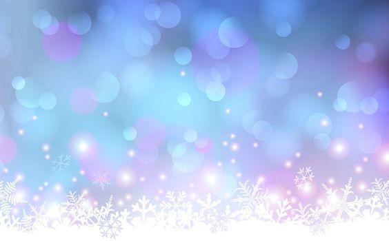 Schneeflocken, Punkte, Glühen Vektorgrafik