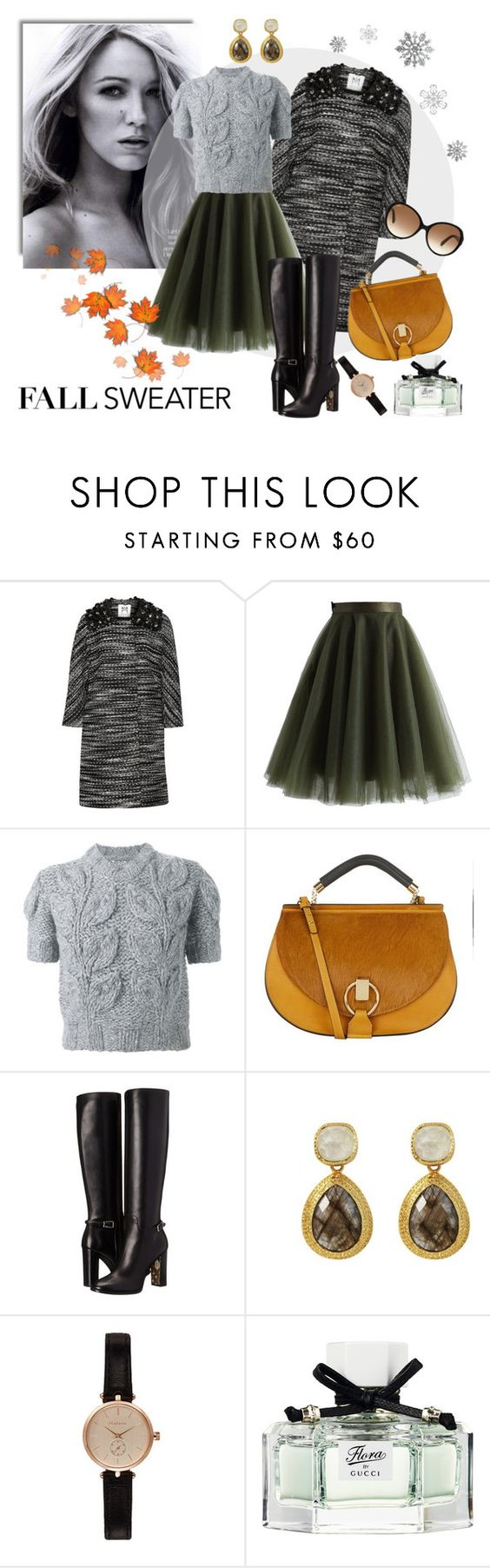 """""""Last days of autumn"""" by molnijax ❤ liked on Polyvore featuring мода, Milly, Chicwish, Maison Margiela, Chloé, Burberry, Barbour, Gucci и Tod's"""