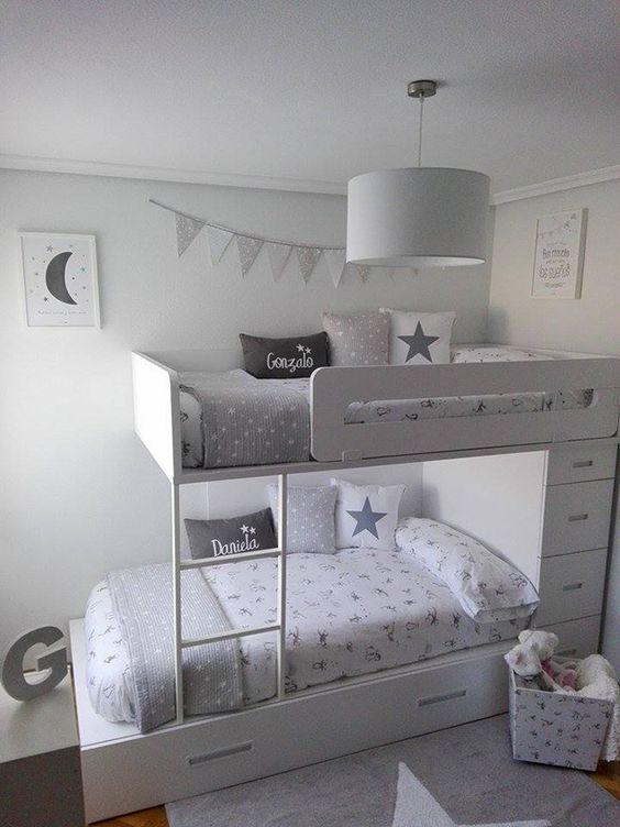La habitación de los mellizos de Lorena en BLANCO Y GRIS!:
