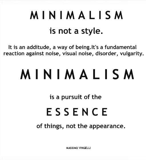 Minimaliste minimalisme pinterest esth tique paix for Mode de vie minimaliste