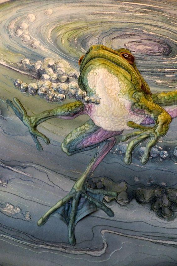 WOW!!! Amazing Quilt by Annemieke Mein, amazing wildlife artist in textiles.: