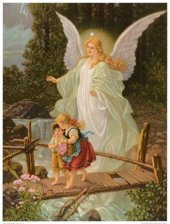 Este dibujo era el clásico del ángel guardián,estaba en todas las casas de antaño