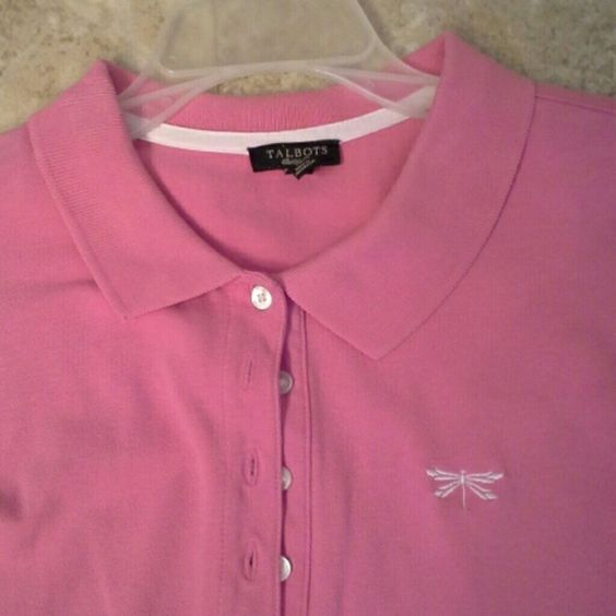 Talbots pink Shirt Pink collared pull over Talbots Tops Blouses