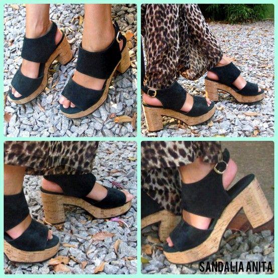 Sandalia Anita en negro
