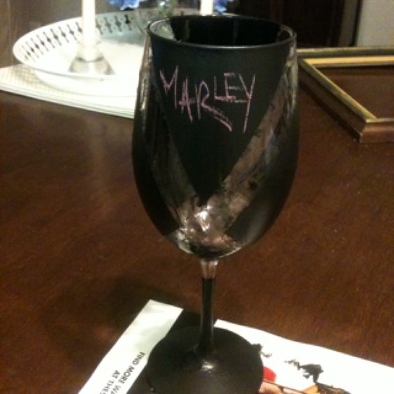 Chalk board wine glass awesome craft night party with sam.