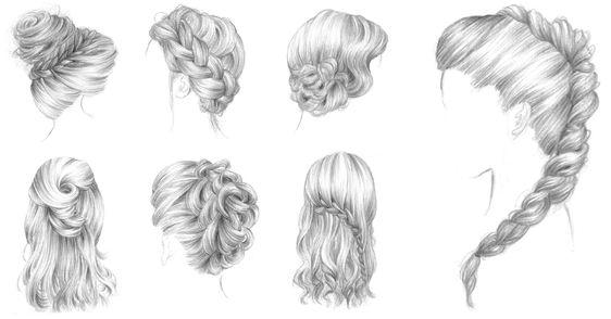 Bars coiffures 365c coup coiffures et bar - Comment dessiner une tresse ...