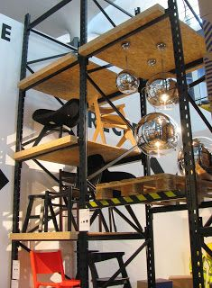 scaffolding/shelving units, pinned by Ton van der Veer