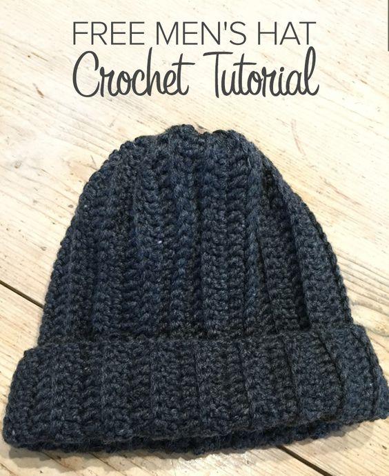 Free Crochet Pattern Mens Winter Hat : Crochet club: free man hat crochet tutorial by Kate ...