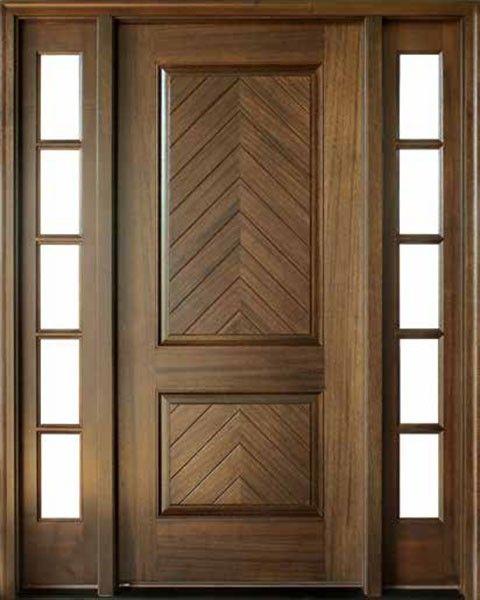Mahogany Manchester Solid Panel Square Impact Single Door 2sidelite Wood Doors Interior Single Doors Wood Exterior Door