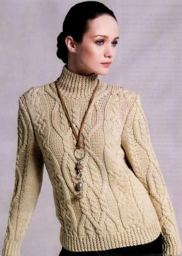 Women's Cable Knit Cashmere Cardigan Sweater Premium
