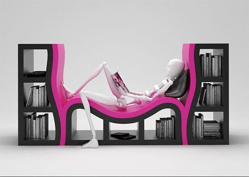 cool design bookcase