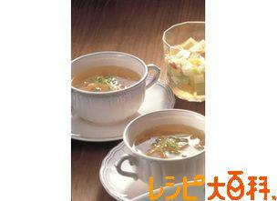 せん切り野菜の和風スープ