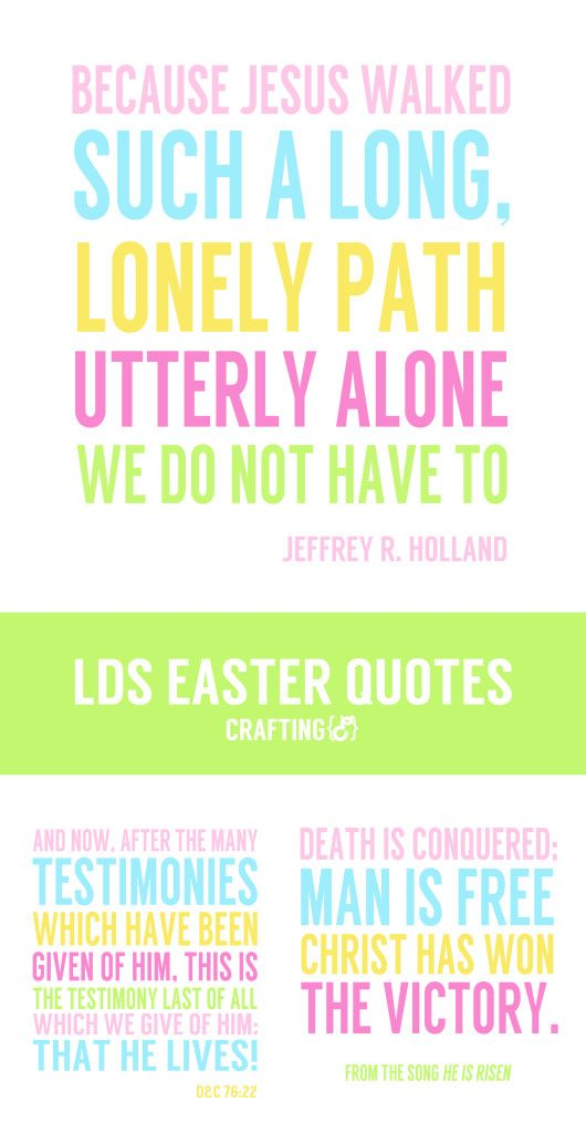 Lds Easter Quotes 30days Creative Team Pinterest Lds
