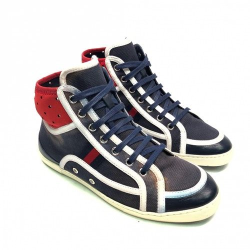Pre-Owned Gucci Blue Cloth Trainers