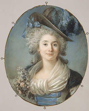Marie-Josephe-Felicitie de la Rouchefoucauld, Vicomtesse de Grand, 1787, by Adelaide Labille-Guiard: