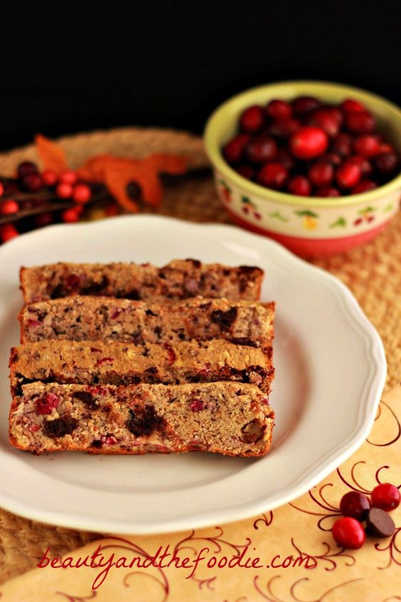 I sure wish I had someone to make all of these recipes for me... chocolate chip cranberry pecan bread