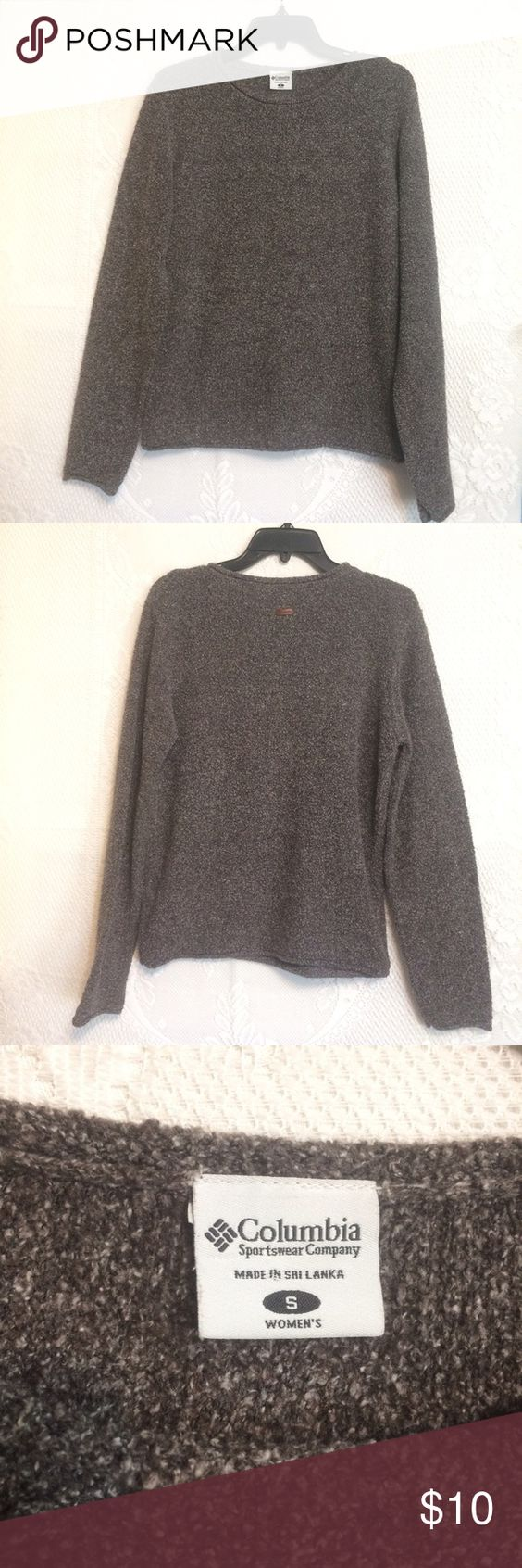 """Columbia Marled Grey Pullover Beautiful long sleeve top.  Acrylic/cotton/poly.  Laid flat measure: armpit to armpit 20"""".  Length 24.5"""".  Like new! Columbia Tops"""