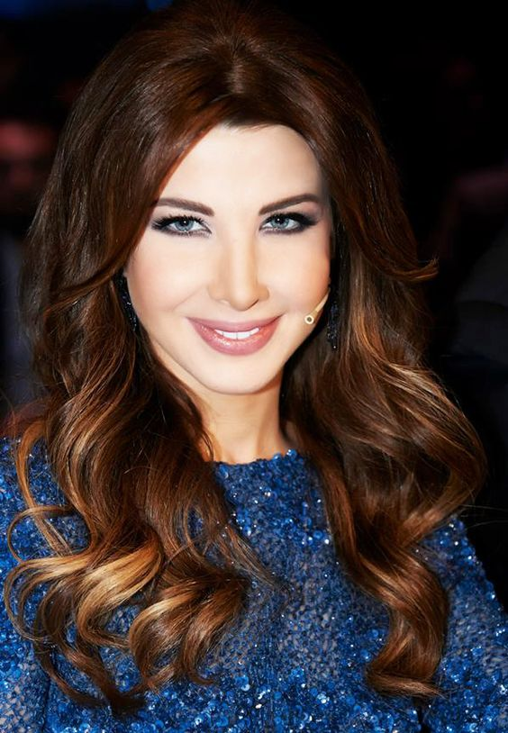 and brown hair styles nancy ajram wavy hair style arab idol 6417
