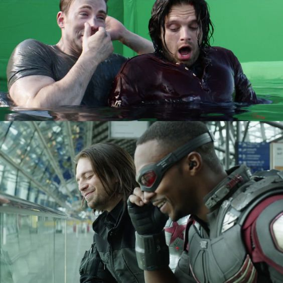 "Bucky makes pretty much everyone laugh, tbh. | The ""Captain America: Civil War""…"