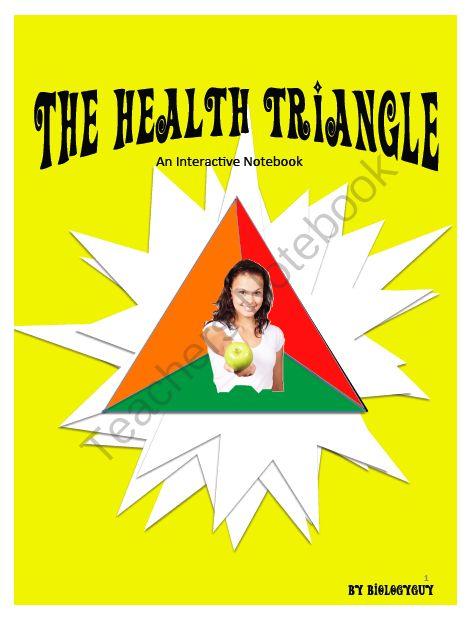Printables Health Triangle Worksheet health triangle interactive notebook from the science corner on 15 pages wellness class lesson project worksheets he