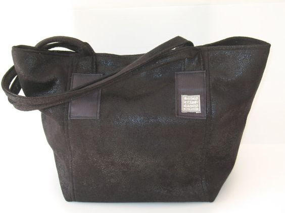 black vegan  tote  shoulder bag  shoulder by LIGONaccessories, $69.00