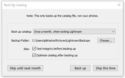 Restore lightroom catalog from backup