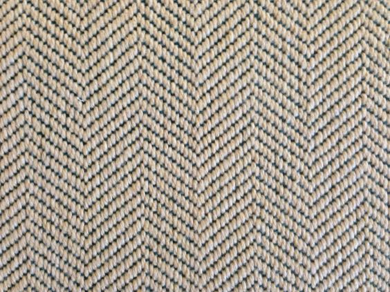 This Is A Wool Carpet Remnant With A Herringbone Pattern