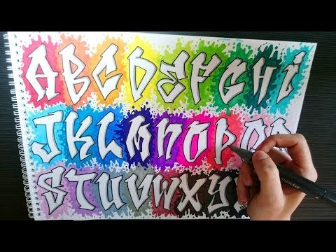 Abecedario en graffiti con todas las letras - YouTube