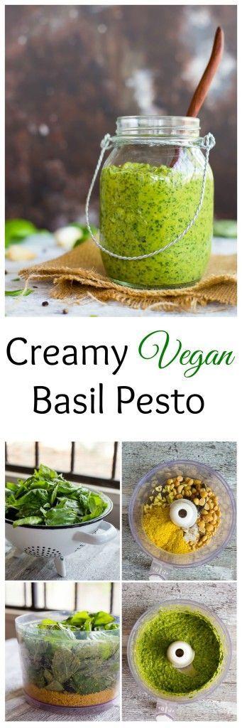 Creamy Vegan Basil Pesto | Recipe | Basil Pesto, Pesto and Basil