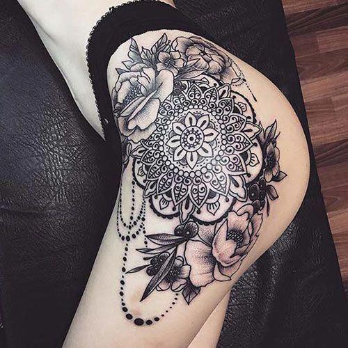 Bird Tattoos On Back Tattoosonback Upper Leg Tattoos Mandala
